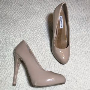 Steve Madden Puurfect Nude Patent Leather Heel 8